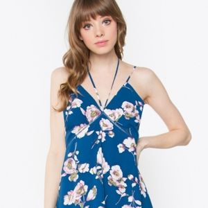 Sugarlips strappy ruffle hem floral dress